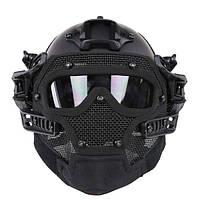 WoSporT Full Face Helmet Защитный чехол для мотоцикл Тактический Военный Обучение
