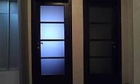 Дверь межкомнатная из массива сосны со стеклом