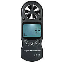 3 в 1 Ручной цифровой анемометр Счетчик скорости ветра Термометр Гипометр