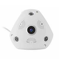 960P 360 градусов Fisheye Panoramic WiFi камера PTZ VR IP P2P H.264 Ночной прицел PIR Security Cam