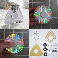 Geekcreit® DIY Круглый треугольник LED POV Вращающийся ручной спиннер SMD Набор для обучения 1TopShop