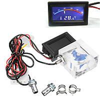 LED Термометр 3-ходовой расходомер для охлаждающей жидкости с водяным охлаждением с 2-мя барбами