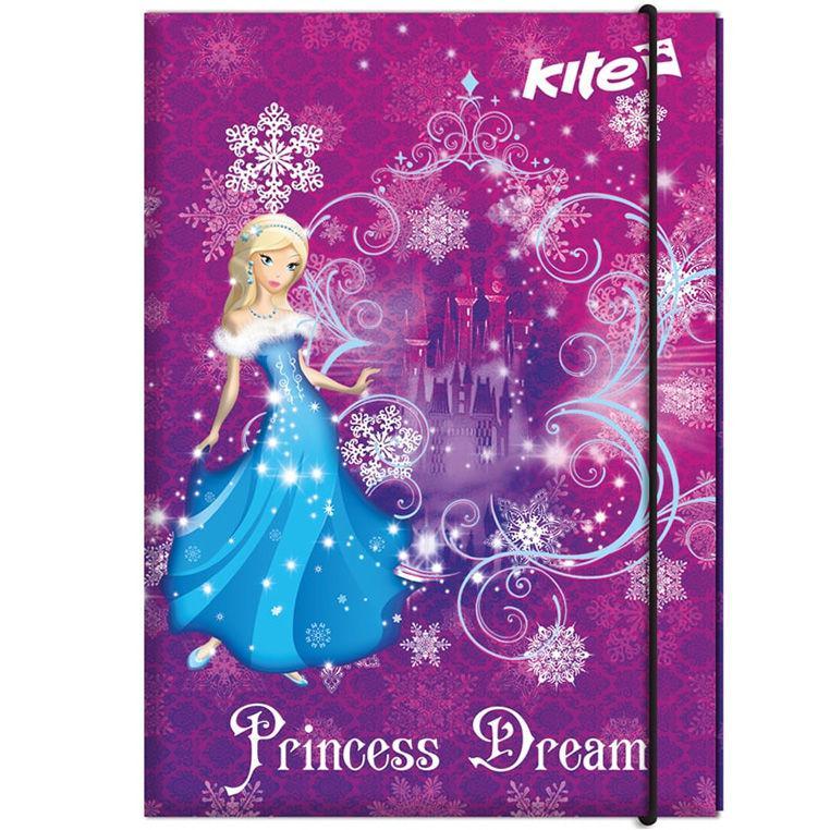 Папка-короб А4 на резинках Kite картон для труда Princess Dream K17-213-01