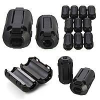 10Pcs Черный EMI RFI Шумовой ферритовый фильтр фильтра Шум на кабелях 7 мм