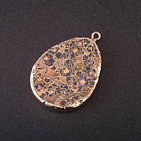 Кулон из натурального камня Яшма Леопардовая 50х35мм(+-)
