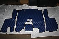 Килимки в салон Scania 2009-2013 сині (еко шкіра)