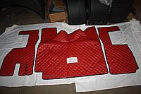 Килимки в салон Volvo 2009-2013 червоні (еко шкіра)