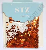 Ромбики STZ для дизайна ногтей «Оранжевые»