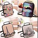Стильный женский рюкзак с принтами, фото 4