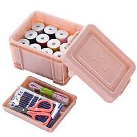 15PCS / Set Многофункциональное шитье Коробка Швейные нитки швов Иглы Инструмент Set Craft Scissor Travel