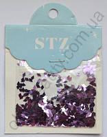 Ромбики STZ для дизайна ногтей «Светло-фиолетовые»