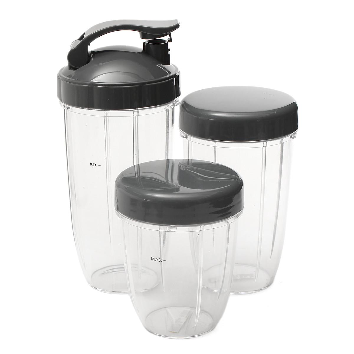 3шт запасные чашки 32 унции колоссальные + 24 унции высотой + маленькая чашка + 3 крышки для Nutribullet-1TopShop