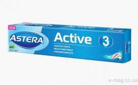 Зубная паста Astera NEW Active 3 (тройное действие) 50 мл