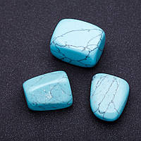 Натуральный камень Бирюза кусочки разные р-р 2,5х2см +-