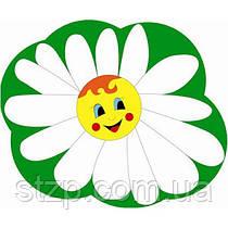 Стенд Держатель под магнит или прищепку Ромашка на зеленом фоне (100х100 мм)