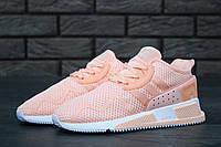 Женские кроссовки в стиле Adidas EQT Cushion ADV пудровые