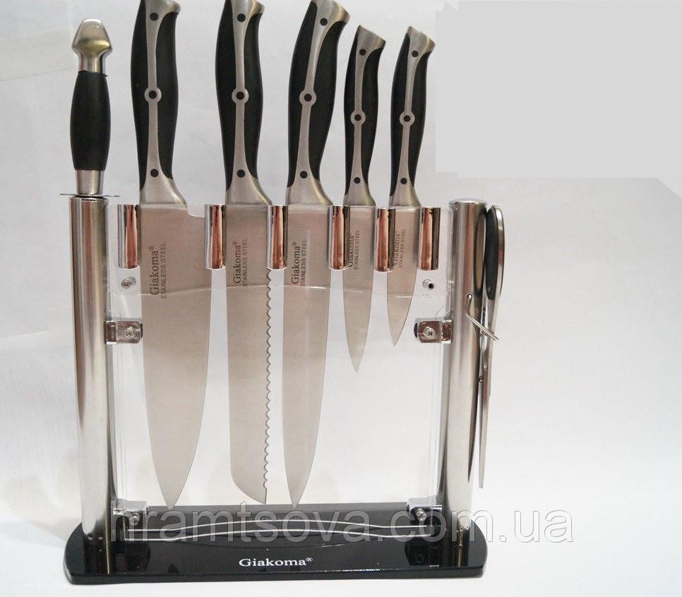 """Ножи кухонные набор 8 шт. на подставке """"Giakoma 8119"""" Италия"""