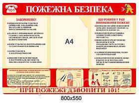 Стенд Пожарная безопасность (карман А4)