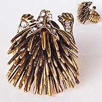 Кольцо на резинке крупная ежик еж GOLD