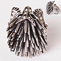 """Кольцо на резинке  Ежик цвет металла """"серебро"""""""