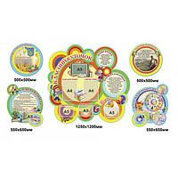 Комплект стендов для начальной школы (округлая форма)