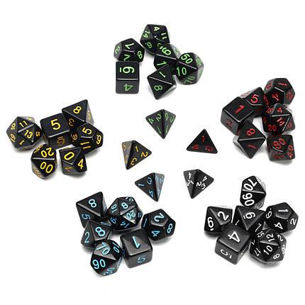 35 Piece Polyhedral Кости Set Multisided Кости С Кости Сумка RPG Ролевые игры Гаджет -1TopShop, фото 2