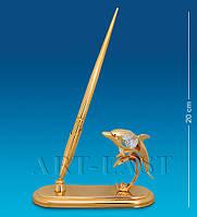 Письменный набор Дельфин с кристаллами Сваровски 20 см AR-1006