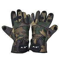 ZANLURE 1 пара Camo Anti-Slip Winter Warm 3 Finger Cut Перчатки На открытом воздухе Охота Рыбалка Перчатки