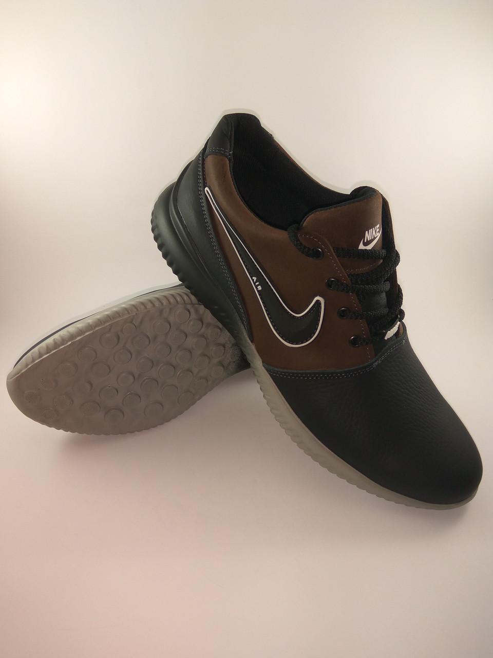 1b221586 Nike Air кроссовки мужские 41 Размер реплика из натуральной кожи чёрный с  коричневым