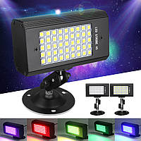 23W 45 LED RGB / White Light Sound-Activated Stroboflash Stage Light для DJ Club KTV AC100-240V