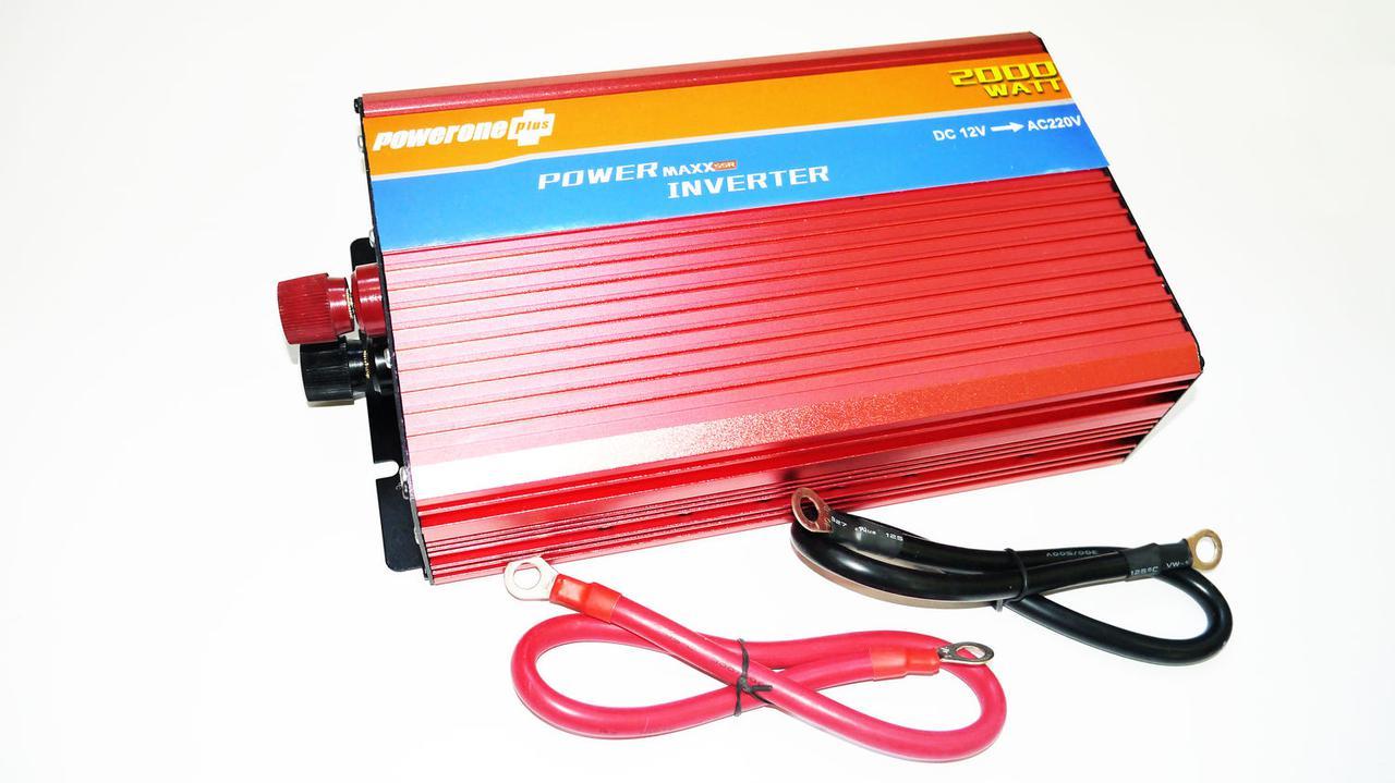 Преобразователь авто инвертор с Функцией плавного пуска 12V-220V 2000 Вт с USB