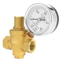 DN15 Регулятор давления воды Латунный свинец 2,5-2,0-1,6 МП Датчик давления