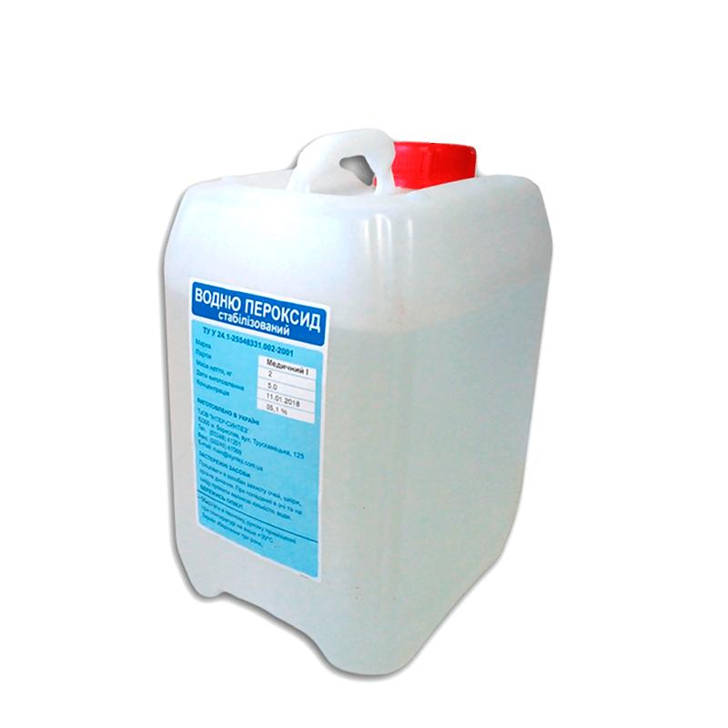 Перекись водорода медицинская 35%, 5кг с клапанной крышкой для дегазации