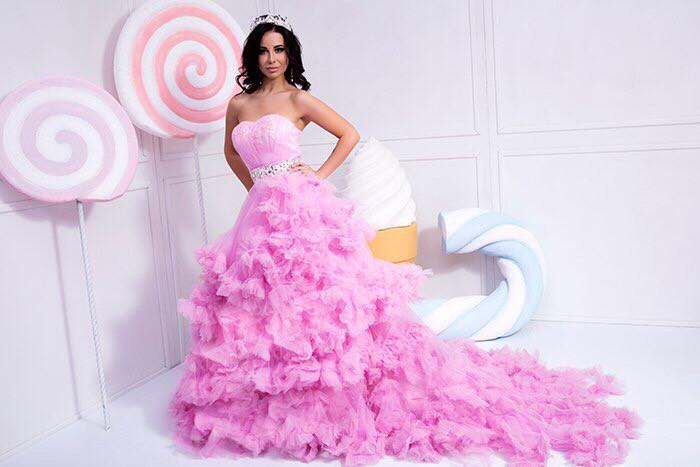 7e26eba9d073f2c Великолепное розовое платье-облако на прокат (аренда) для фотосессии - Костюмерная  Плечики в