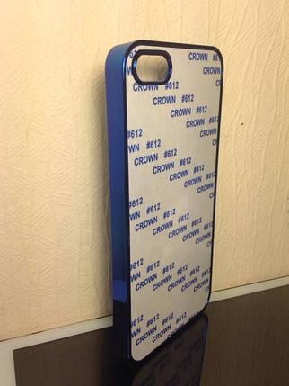 Чехол для 2D сублимации пластиковый Iphone 5/5S синий хром, фото 2