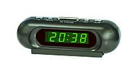 Часы настольные зеленые электронные VST 716-2