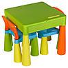 Стол и 2 стульчика Tega Mamut 899UN салатовый-голубой- оранжевый, фото 3