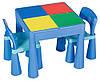 Стол и 2 стульчика Tega Mamut 899B малиновый-белый, фото 2