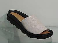 Модные женские кожаные шлепанцы на платформе, фото 1
