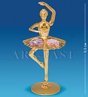 Фигурка с кристаллами Сваровски Балерина 9,5 см Фигурка с кристаллами Сваровски Балерина 9,5 см AR-3754/ 1