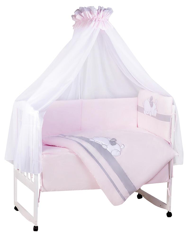 Детская постель TuttoLina Sleeping Cat (7 элементов) 66 розовый-серый (кот спит)