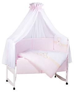 Детская постель TuttoLina Sweet Dream (7 элементов) 27 розовый-белый (морда мишки)