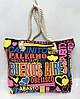 Пляжная сумка Buenos Aires 115529 женская текстильная канатные ручки на молнии