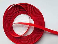 Стрічка репсова 6мм ( 22 метри в рулоні) червона
