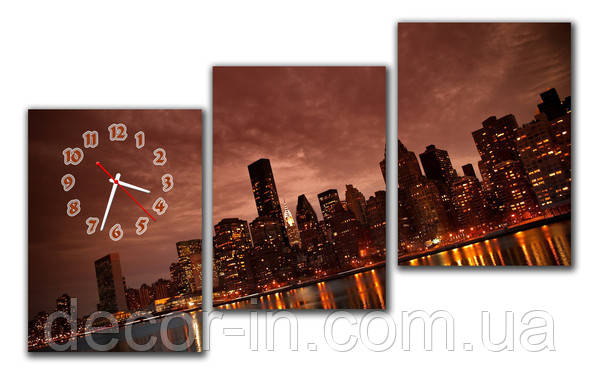 Часы на стену модульные М18 ( 30х40 см каждый модуль)