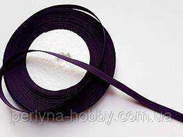 Стрічка репсова 6мм ( 22 метри в рулоні) темно-фіолетова