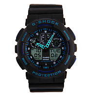 Часы наручные Casio G-Shock ga-100 Black-Blue CA132, фото 1