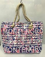 c25f83a1aa4c Пляжная сумка Montenegro розовая с буквами женская ручки канаты 115532