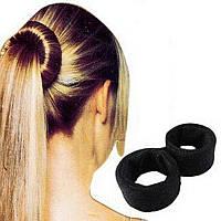 Знаменитая заколка для волос Hairagami (Хэагами) тканевая, черная, фото 1