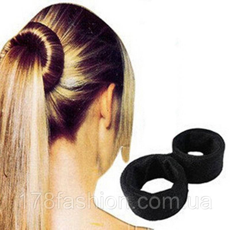 Знаменитая заколка для волос Hairagami (Хэагами) тканевая, черная